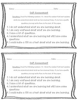 Self Assessment - Student