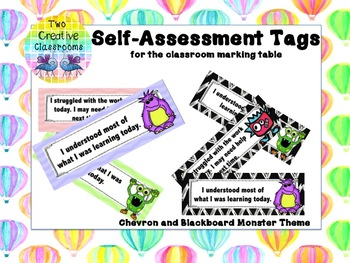 Self-Assessment Tags - Monster Theme