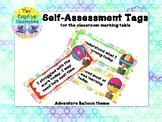 Self-Assessment Tags - Hot Air Balloon Theme