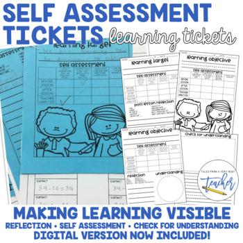 Self Assessment Tickets {Formative Assessment}