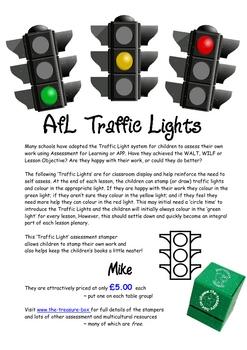 Self Assessment Traffic Light Posters