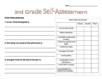 Self Assessment Work Habits Conferences