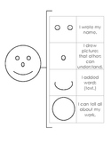 Self Assessment Writing Happy Face Rubric with Brace Map