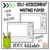 Self Assessment Writing Paper - EDITABLE