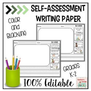 Self Assessment Writing Paper - EDITABLE