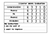 Self Assessment for Center Work