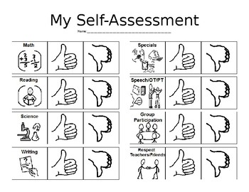 Self Assessment for Special Needs Learners