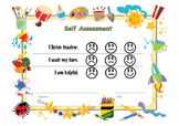 Self Assessment for kindergartener / pre-schooler.