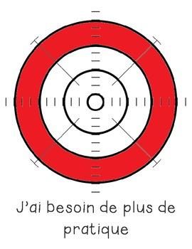 Self Assessment for students using a bullseye.