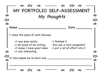 Self Assessment in PDF format