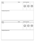 Self Assessment/Evaluation Easy Exit Slip