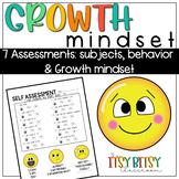 Self Assessments - GROWTH MINDSET - Emojis!- Kindergarten reading, math, writing