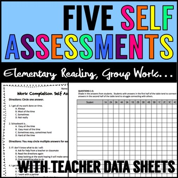 Self Assessments for Students BUNDLE