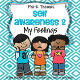 My Feelings Theme Math and Literacy Activities and Centers for Preschool