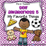 Favorite Things Theme Literacy and Math Centers and Activities Preschool