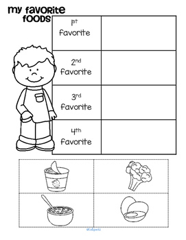 Favorite Things Theme Literacy and Math Centers and Activities