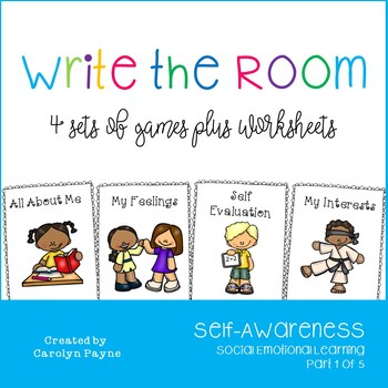 Self-Awareness Part 1:  Write the Room Plus Worksheets and
