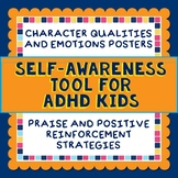 Self Awareness Tool, Behavior Strategy, ADHD, Emotions Vocabulary, Reflection