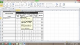 Self-Calculating Excel Spreadsheet - Pizza Day Fundraiser