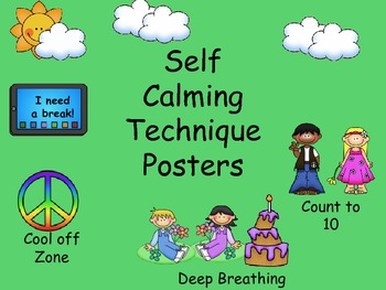 Self Calming Techinque Posters - Green
