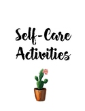 Self-Care and Mindfulness Activity Cards