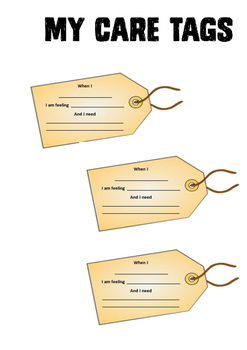 Self Care Behaviour Support Activity: Care Tags