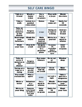 Self Care Bingo Sheets By Wonder Counselor Teachers Pay