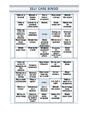 Self-Care Bingo Sheets