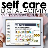 Self Care Digital Activity for Google Slides, Google Class