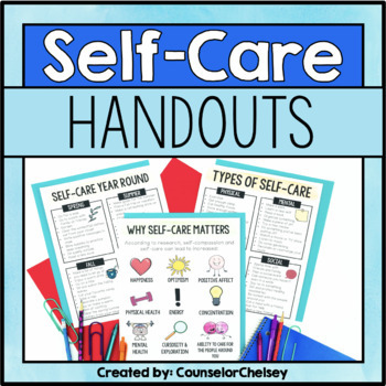 Self-Care Handouts for Teachers, Parents, and Students