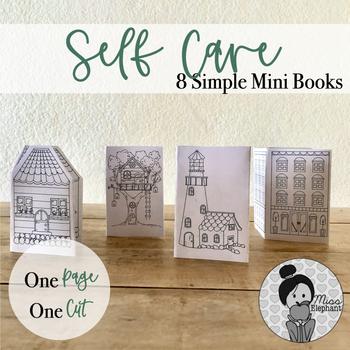 Self-Care Village: 8 Simple Mini Books