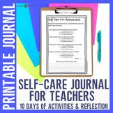 Self-Care for Teachers Journal
