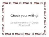 Self Check 4th Grade Writing