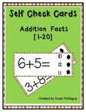 Self Check Addition Cards [1-20]