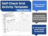 Self-Check Grid Activity Template (Hearts/Valentine Edition)