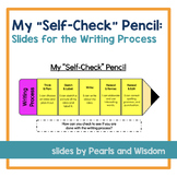 """Self-Check Pencil   Slides for the Writing Process   """"I Can Statements"""""""