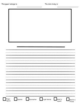 Self Check Primary / Kindergarten Writing Paper