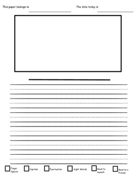 Self Check Primary / Kindergarten Writing Paper