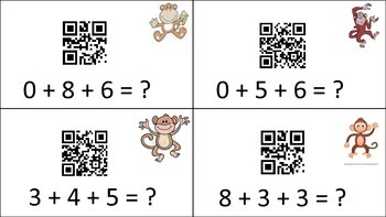 Self-Checking Adding 3 Numbers within 20 Qr Codes
