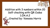 Self-Checking Adding 3 Numbers within 20 Qr Codes- Full