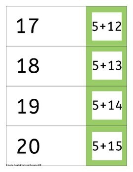 Self Checking Addition Cards Addition up to 20 (Sums 11-20)