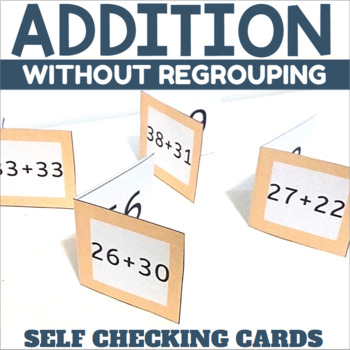 Self Checking Addition Cards Two Digit Addition without Regrouping
