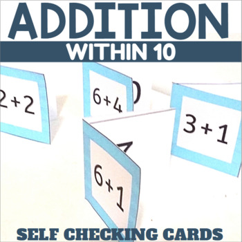 Self Checking Addition Cards for Sums up to 10