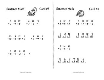 Self-Checking Addition & Subtraction Practice {Bundle}