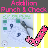 Self Checking Addition to 20 Math Center