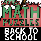 Self Checking Back to School Puzzles