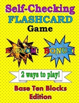 Self-Checking Base Ten Blocks Game