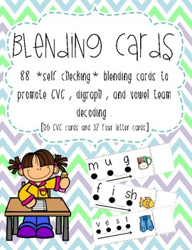 Self Checking Blending Cards