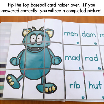 Self-Checking CVC Word Games - Slip It and Flip It