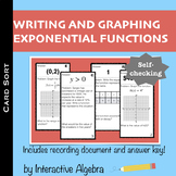 Self Checking Card Sort - Write and Graph Exponential Functions